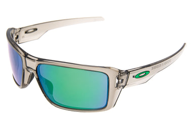 Oakley Double Edge Sunglasses Gray Smoke Frame Jade Iridium Lens