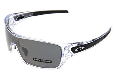 Oakley Turbine Rotor Sunglasses Clear Frame Prizm Black Lens