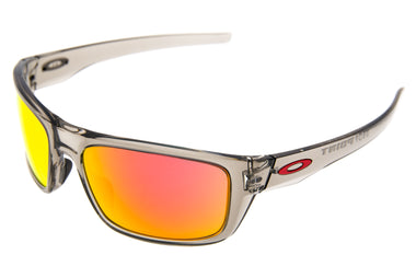 Oakley Drop Point Sunglasses Gray Smoke Frame Ruby Iridium Lens