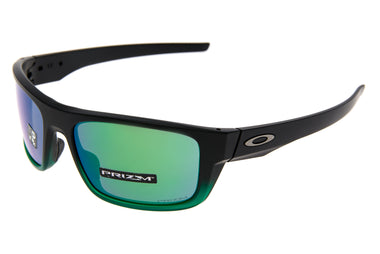 Oakley Drop Point Sunglasses Matte Black Green Fade Frame Prizm Jade Lens