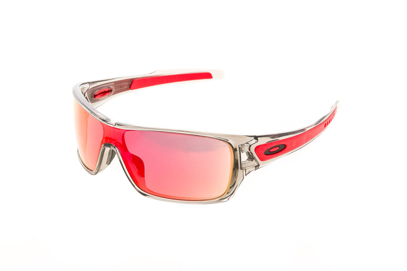 Oakley Turbine Rotor Sunglasses Smoke Clear Frame Red Iridium Lens - Pre Owned drive side