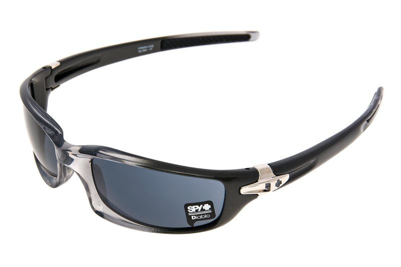 SPY Diablo Sunglasses Smoke Gun Fade Frame Grey Lens drive side