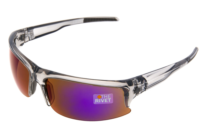 SPY Rivet Sunglasses Purple Haze Frame Purple Spectra Lens drive side