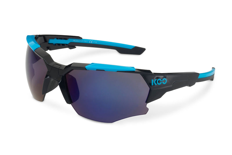 KOO Orion Sunglasses Black/Light Blue Medium drive side