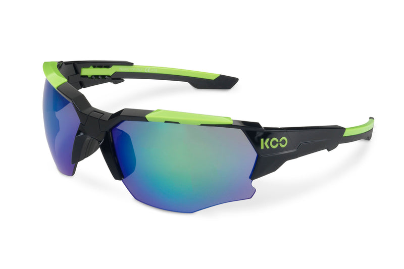 KOO Orion Sunglasses Black/Lime drive side