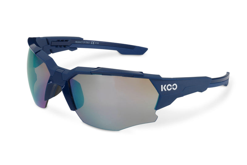 KOO Orion Sunglasses Blue Matt Medium drive side