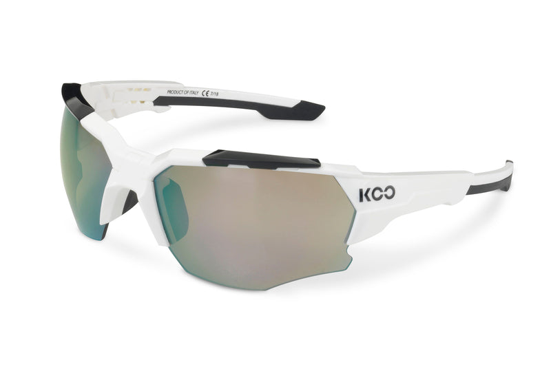 KOO Orion Sunglasses White/Black Medium drive side