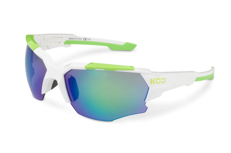 KOO Orion Sunglasses White/Lime Medium drive side