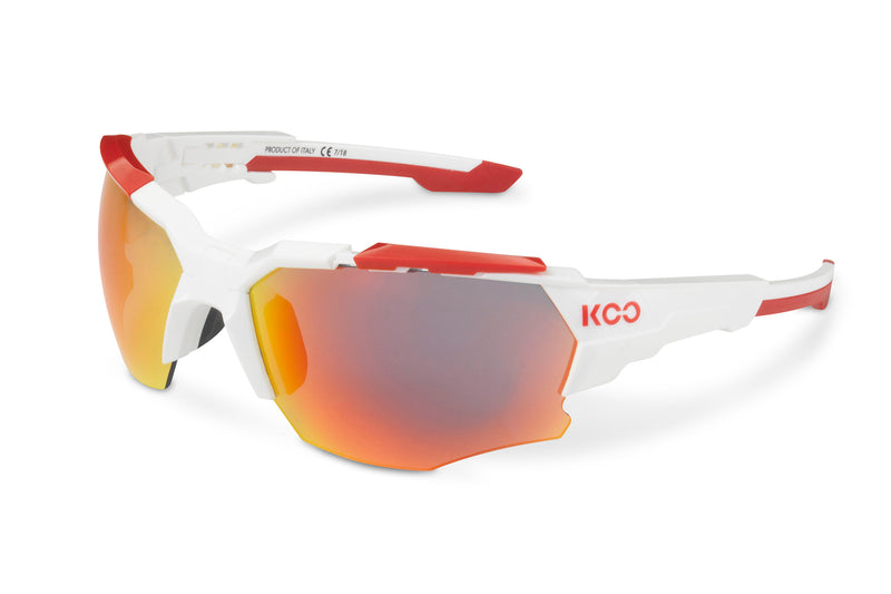 KOO Orion Sunglasses White/Red Medium drive side