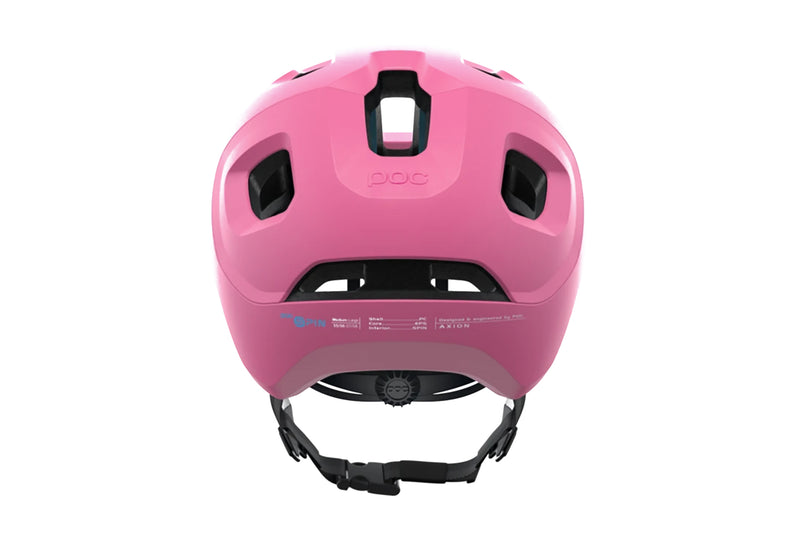 POC Axion SPIN (CPSC) Bike Helmet Actinium Pink Matt sticker