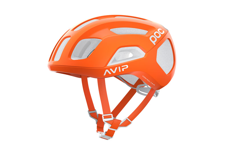 POC Ventral Air SPIN (CPSC) Bike Helmet Zink Orange AVIP drive side