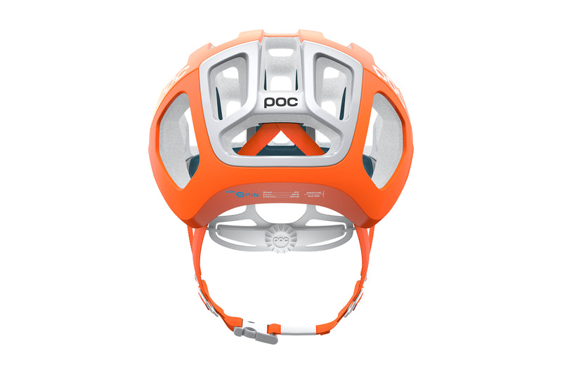 POC Ventral Air SPIN (CPSC) Bike Helmet Zink Orange AVIP sticker