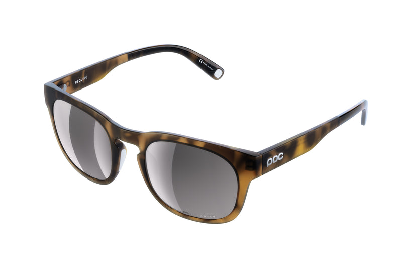 POC Require Sunglasses Tortoise Brown drive side