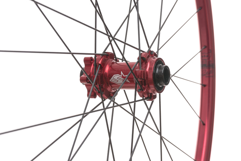 "Spank Oozy Trail 260 Evo Tubeless 27.5"" Wheelset Red sticker"