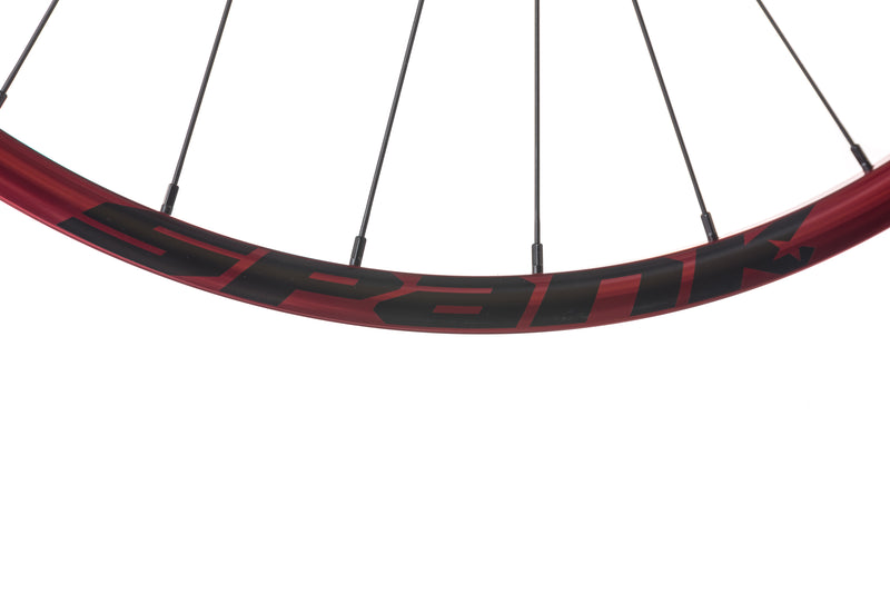"Spank Oozy Trail 260 Evo Tubeless 27.5"" Wheelset Red cockpit"