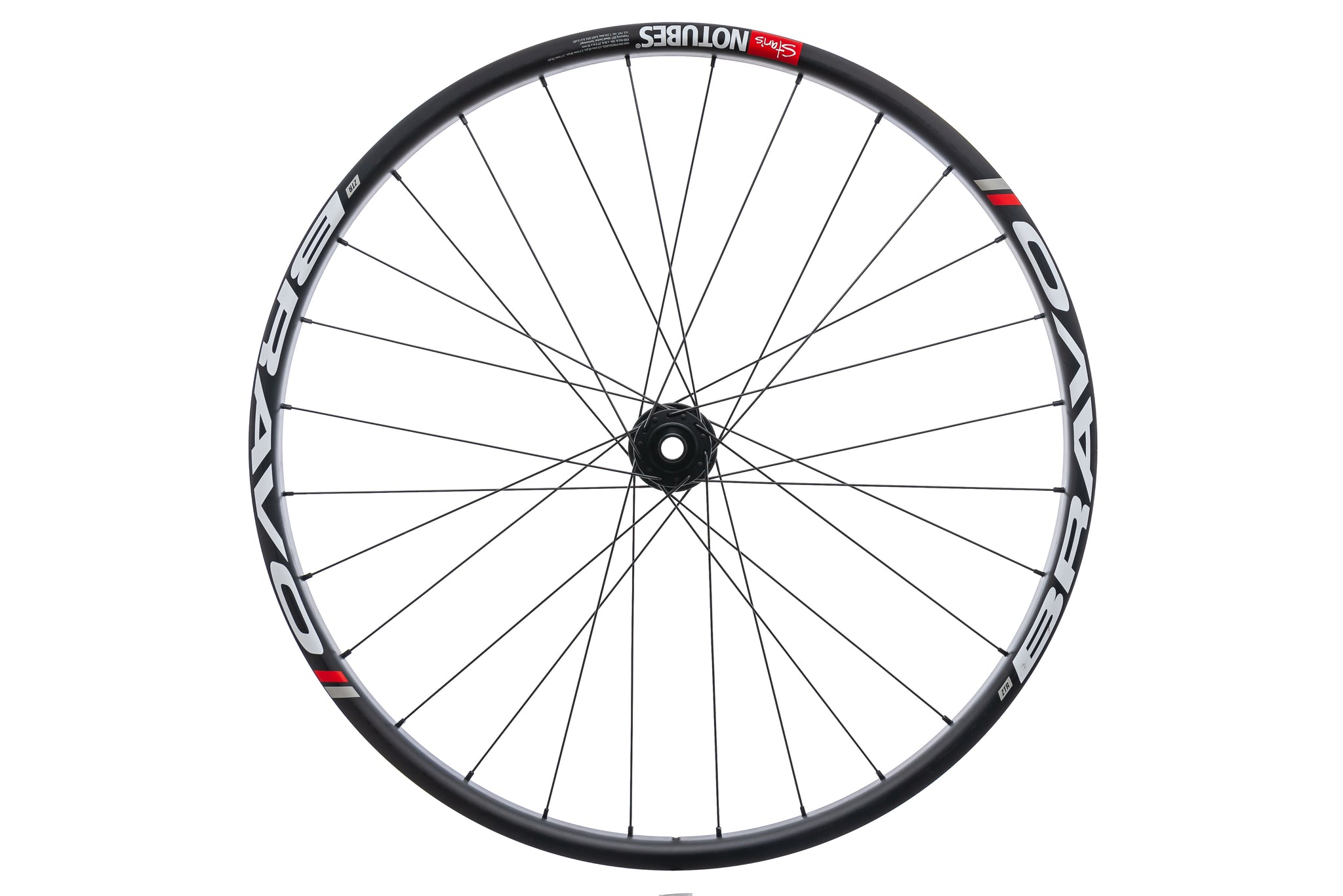 "Stan's NoTubes Bravo Carbon Tubeless 27.5"" Front Wheel non-drive side"