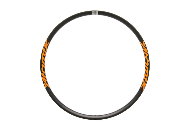 "Atomik Carbon Mod-Hook Rim Carbon Tubeless 27.5"" 32 Hole Black/Orange drive side"