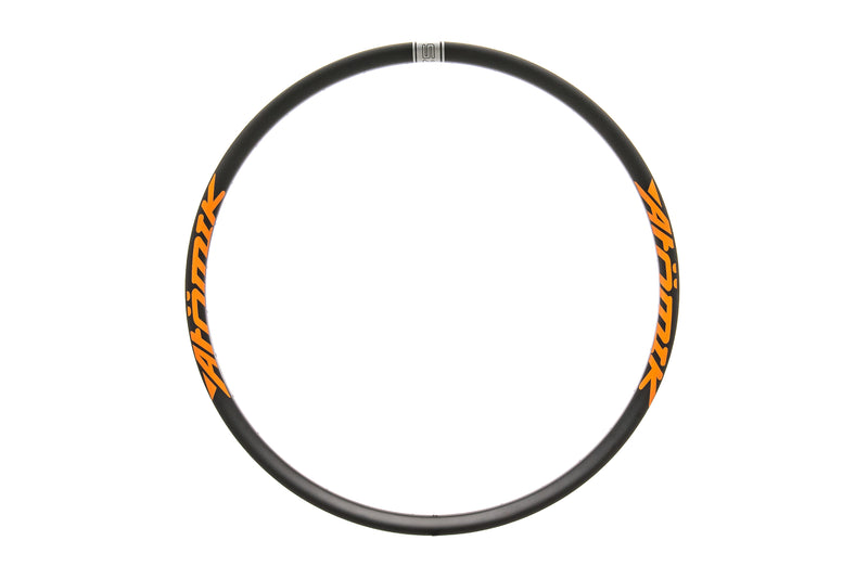 "Atomik Carbon Mod-Hook Rim Carbon Tubeless 27.5"" 32 Hole Black/Orange non-drive side"