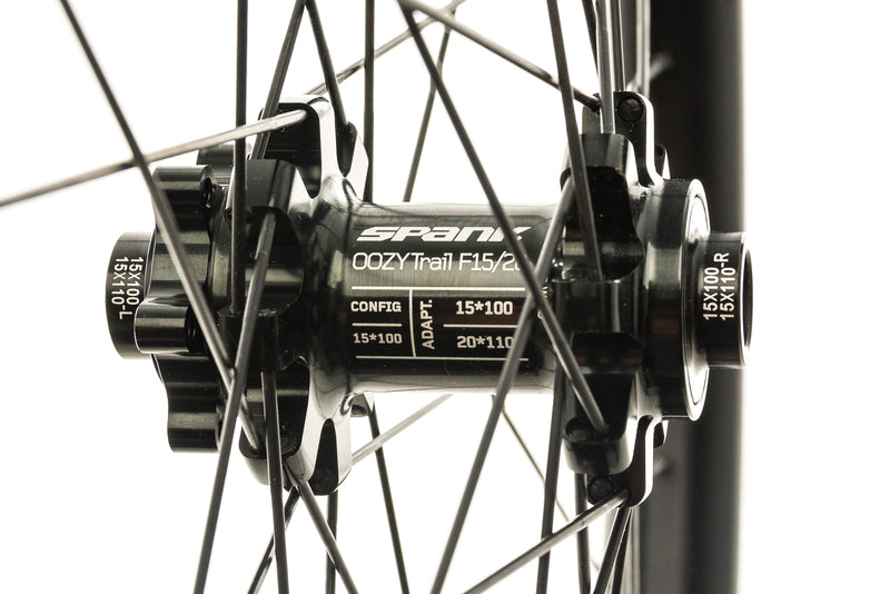 "Spank Oozy Trail 395+ Aluminum Tubeless 27.5"" Wheelset Black sticker"
