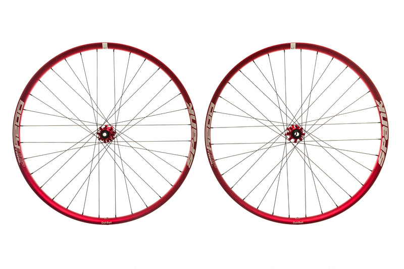 "Spank Oozy Trail 395+ Aluminum Tubeless 29"" Wheelset Red non-drive side"