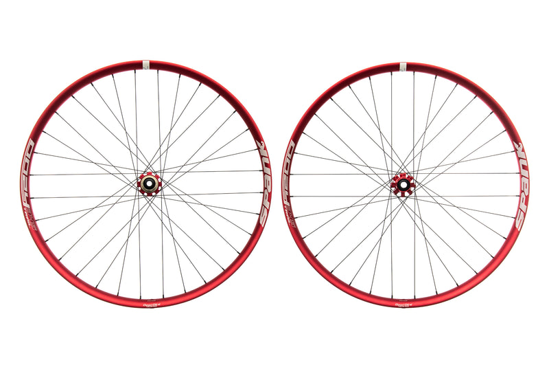 "Spank Oozy Trail 345 Aluminum Tubeless 29"" Wheelset Red drive side"