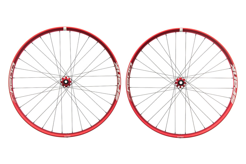 "Spank Oozy Trail 345 Aluminum Tubeless 29"" Wheelset Red non-drive side"
