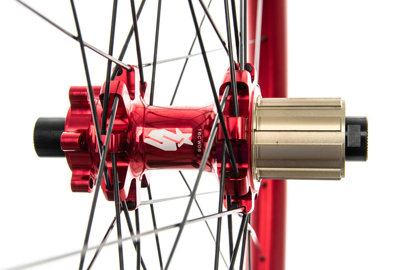 "Spank Oozy Trail 345 Aluminum Tubeless 29"" Wheelset Red sticker"