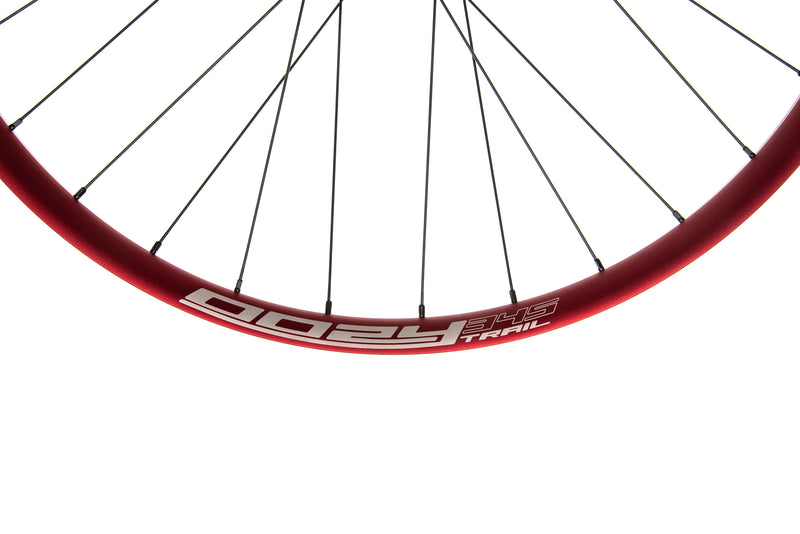 "Spank Oozy Trail 345 Aluminum Tubeless 29"" Wheelset Red cockpit"
