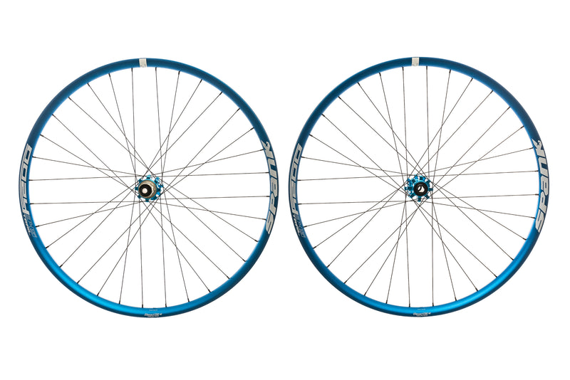 "Spank Oozy Trail 345 Aluminum Tubeless 29"" Wheelset Blue drive side"