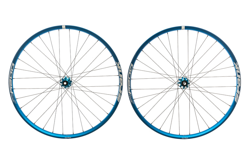 "Spank Oozy Trail 345 Aluminum Tubeless 29"" Wheelset Blue non-drive side"