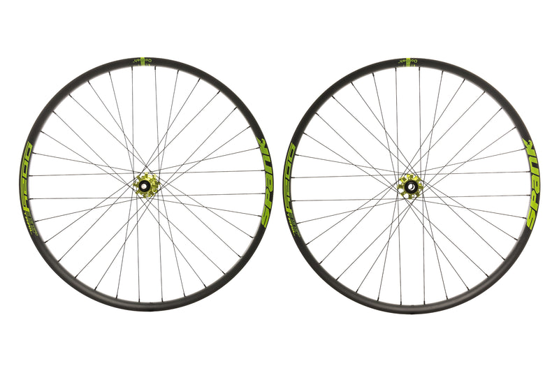 "Spank Oozy Trail 395+ Aluminum Tubeless 29"" Wheelset Green non-drive side"