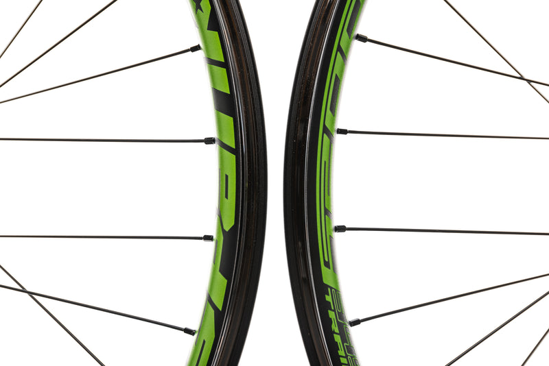 "Spank Oozy Trail 345 Aluminum Tubeless 27.5"" Wheelset Green front wheel"