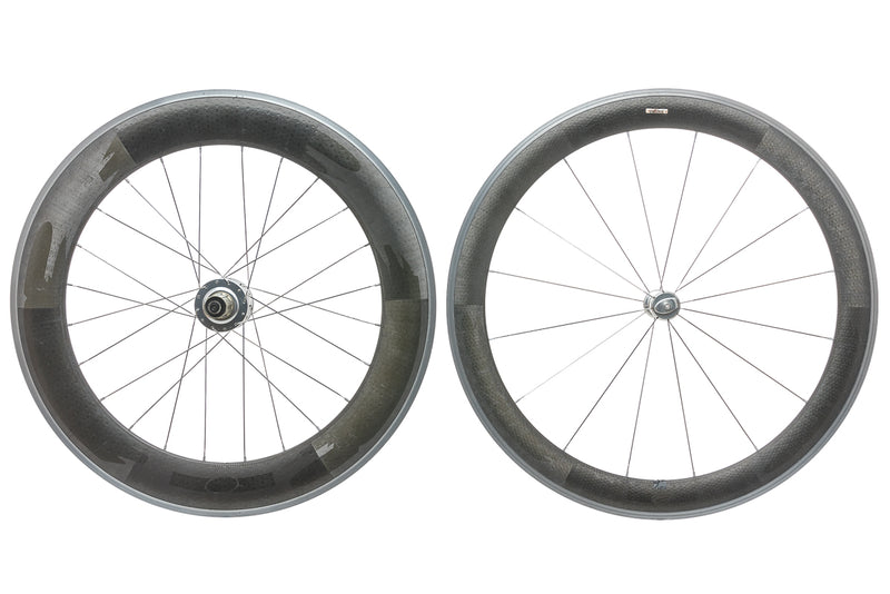 Zipp 404 / 808 CycleOps Powertap SL+ Carbon Clincher 700c Wheelset drive side