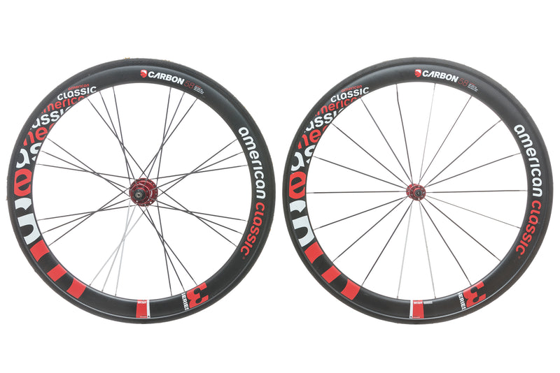American Classic Racing Carbon 58 3 Series Tubular 700c Wheelset non-drive side
