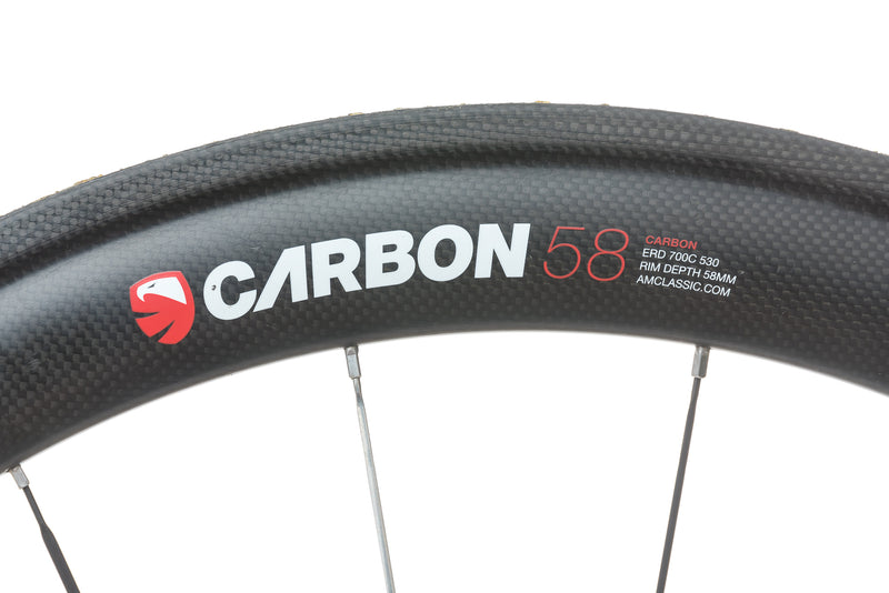 American Classic Racing Carbon 58 3 Series Tubular 700c Wheelset cockpit