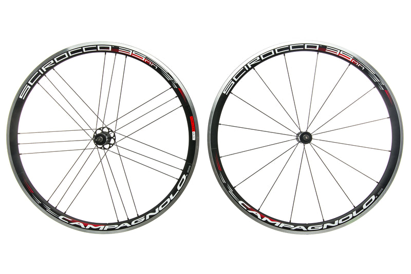 Campagnolo Scirocco 35mm Aluminum Clincher 700c Wheelset drive side