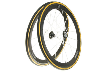 Lightweight Meilenstein Obermayer Weiss Edition Carbon Tubular 700c Wheelset