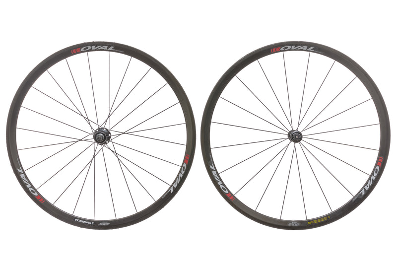 Oval Concepts 932 Carbon Tubular 700c Wheelset non-drive side