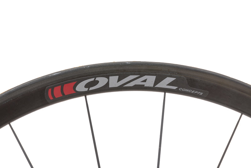 Oval Concepts 932 Carbon Tubular 700c Wheelset cockpit