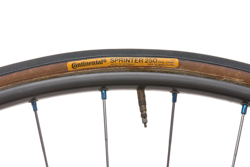Mavic GP 4 / Dura-Ace HB-7020 10mm Aluminum Tubular Track Wheelset cockpit