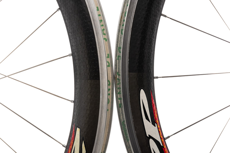 Zipp 404 PowerTap 2.4 Carbon Clincher 700c Wheelset front wheel