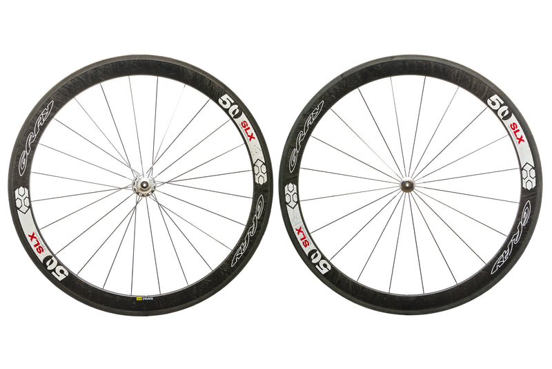Gray 50 SLX Carbon Tubular 700c Wheelset non-drive side