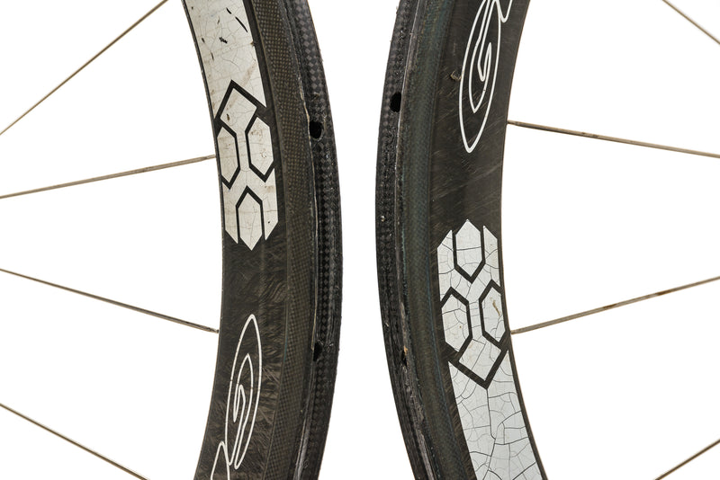 Gray 50 SLX Carbon Tubular 700c Wheelset front wheel