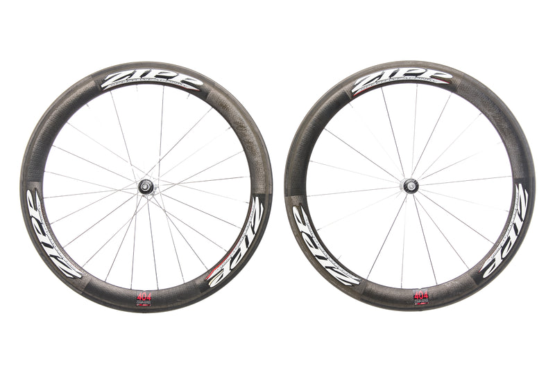 Zipp 404 Carbon Tubular Wheelset non-drive side