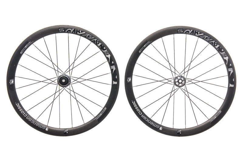 American Classic 46 Disc Carbon Tubular 700c Wheelset drive side