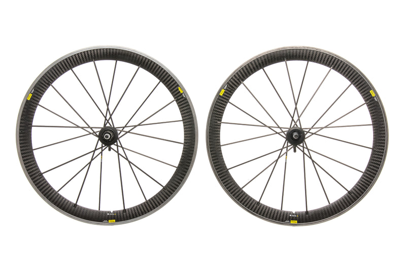 Mavic Cosmic Carbone SR Aluminum Carbon Clincher 700c Wheelset drive side
