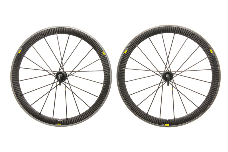 Mavic Cosmic Carbone SR Aluminum Carbon Clincher 700c Wheelset non-drive side