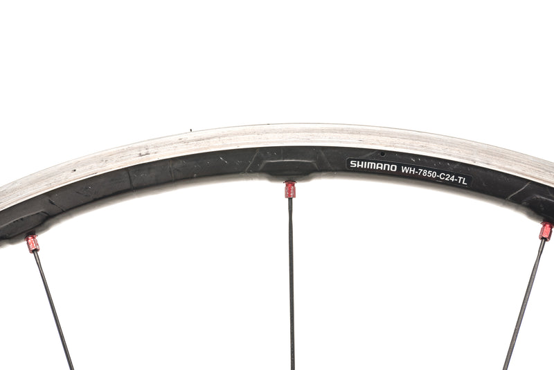 Shimano Dura-Ace WH-7850 Carbon Tubeless 700c Front Wheel cockpit