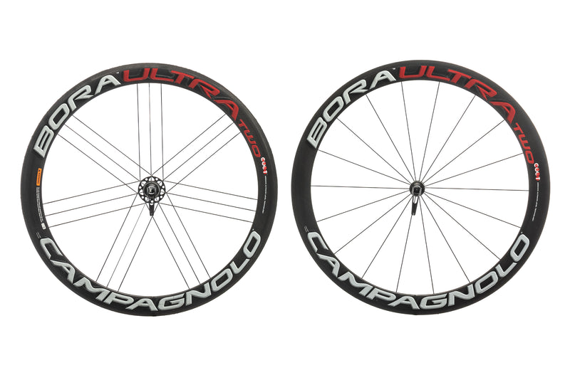 Campagnolo Bora Ultra Two Road Bike Wheelset 700c Carbon Tubular Campagnolo 11 Speed non-drive side