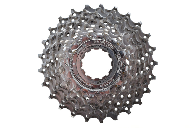 Shimano CS-HG70-9 Cassette 12-25T 9 Speed Road Bike drive side